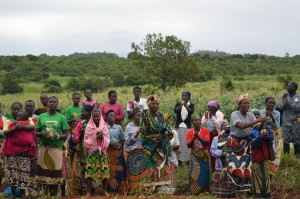 Farmers at an AGRA-supported demonstration plot, Mozambique. Credit, Agriculture for Impact