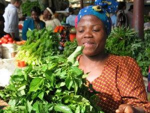Leafy vegetables in Tanzania. Credit WRENmedia