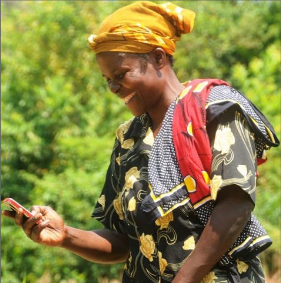 Mary Afande Lwaka, Cropnuts customer. Credit, Fintrac Inc.