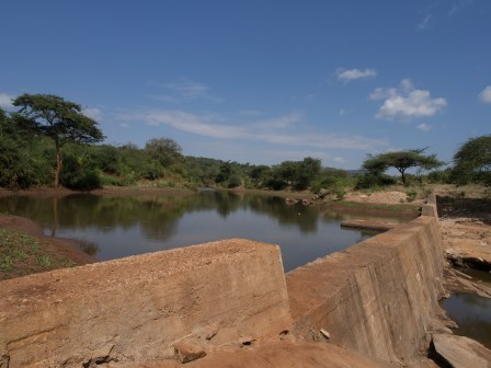 Sand dam in Kenya. Credit: The Water Project