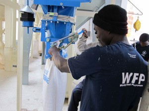 Warehouse machines in use. Credit, WFP.